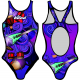 Woman One Piece Swimsuit ROCK NEW
