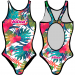 Woman One Piece Swimsuit FLOWERS