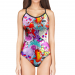 Woman One Piece Swimsuit SKULL ROSE