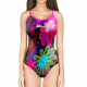Woman One Piece Swimsuit 3D BLACK