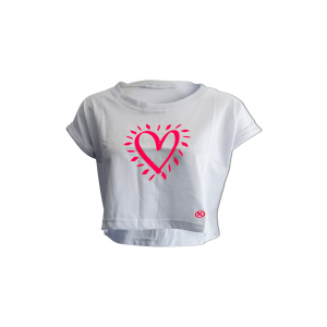 T-shirt women's short sleeve mod. Heart
