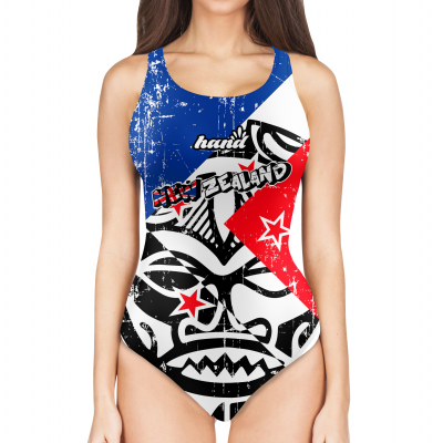Woman One Piece Swimsuit Maori