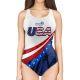 Woman One Piece Swimsuit Strips & Stars