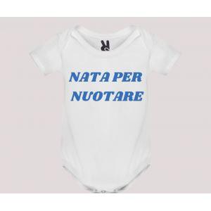 Body baby short sleeve mod. Nata/o per Nuotare