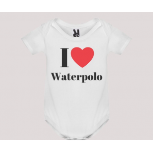 Body baby short sleeve mod. I Love Waterpolo