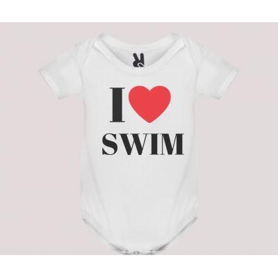 Body baby short sleeve mod. I Love Swim