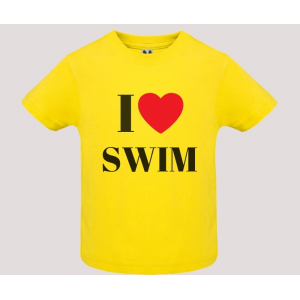 T-shirt baby short sleeve mod. I Love Swim