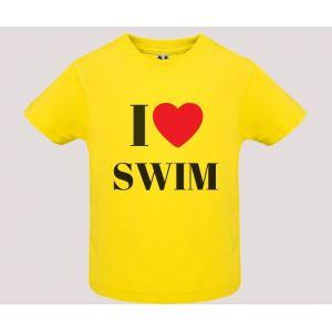 T-shirt bebè m/c mod. I Love Swim