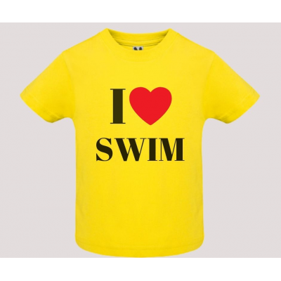 T-shirt baby short sleeve mod. I Love Swim