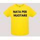 T-shirt baby short sleeve mod. Nata/o per Nuotare