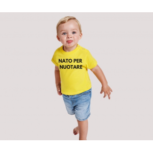 T-shirt baby short sleeve mod. Nuotare con Papà