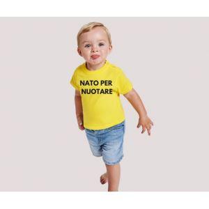 T-shirt bebè m/c mod. Nuotare con Papà