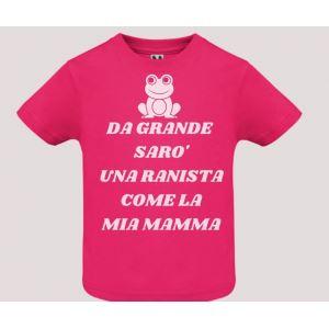 T-shirt bebè m/c mod. Da Grande Sarò
