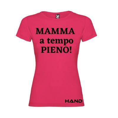 T-shirt donna m/c mod. Mamma a tempo pieno