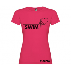 T-shirt woman short sleeve mod. Swim Beat