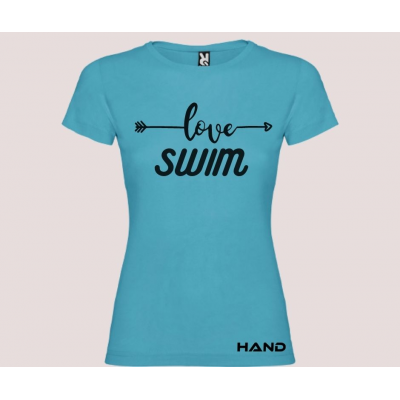 T-shirt donna m/c mod. Love Swim