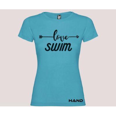 T-shirt woman short sleeve mod. Love Swim