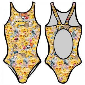 Woman One Piece Swimsuit EMOTICONS