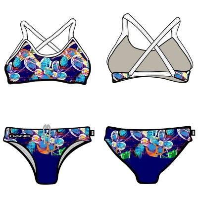 Woman Two Piece Swimsuit FLOWER