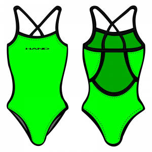 Woman One Piece Swimsuit Monocolour Fluo