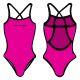 Woman One Piece Swimsuit Monocolour Fluo