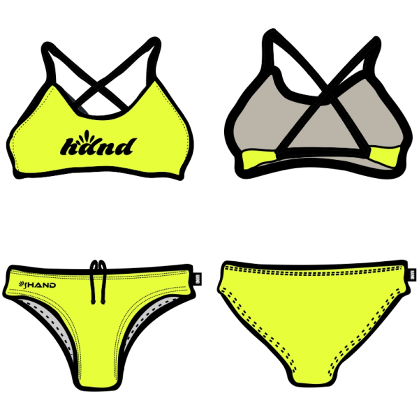 Due pezzi donna fluo for Costumi piscina due pezzi